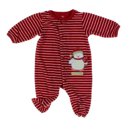 Carter's Striped Velour Footed Pajamas in size 3 mo at up to 95% Off - Swap.com