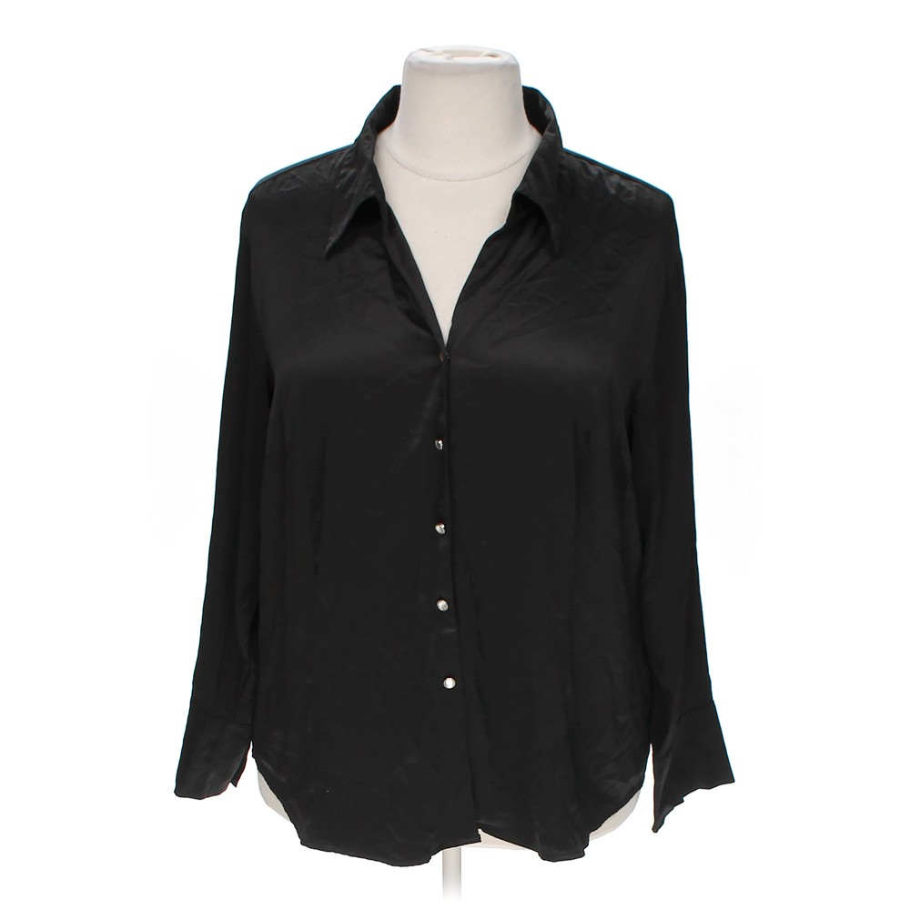 George stylish button up blouse online consignment for Polyester button up shirt