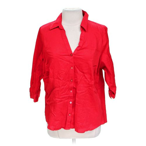 212 Collection Stylish Button-up Shirt in size 1X at up to 95% Off - Swap.com