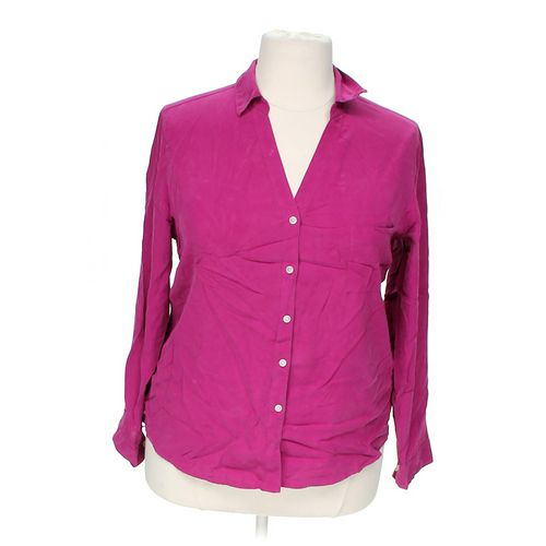 Investments Stylish Button-up Shirt in size 1X at up to 95% Off - Swap.com