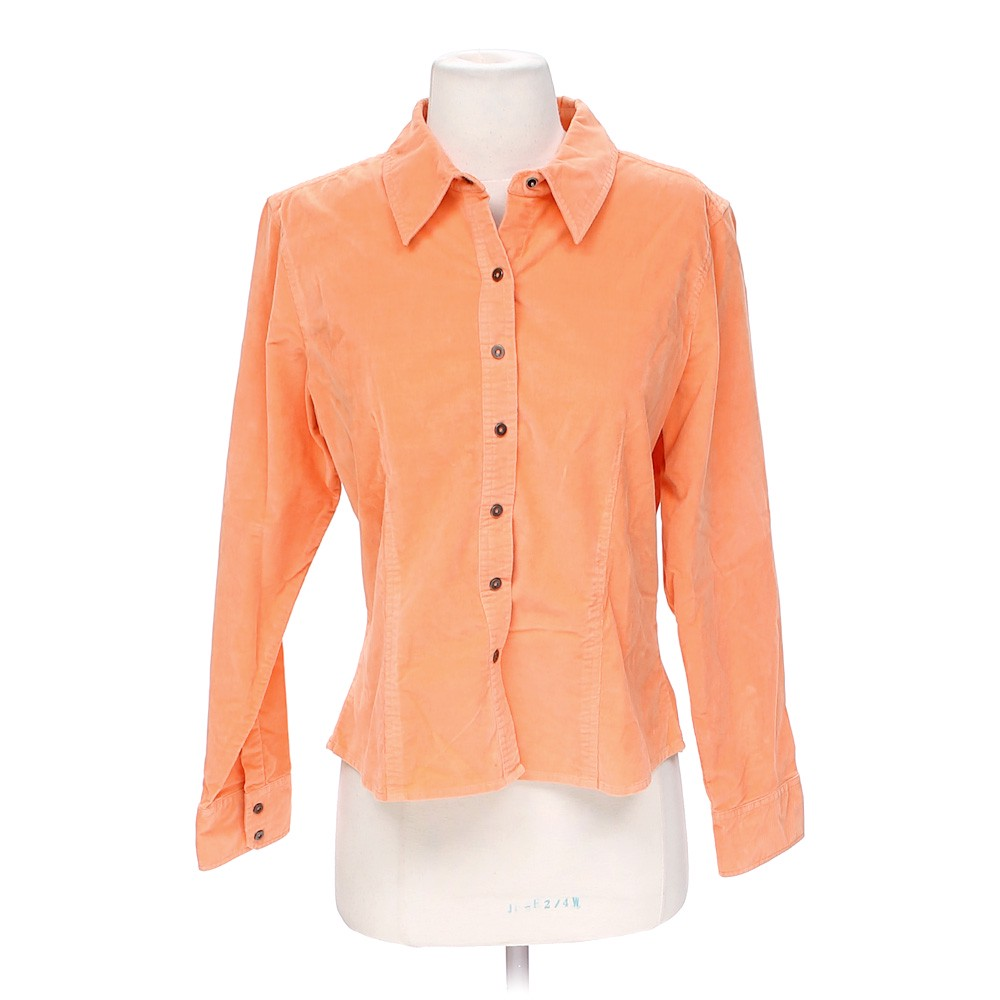 Talbots stylish button up shirt online consignment for Cotton button up shirt