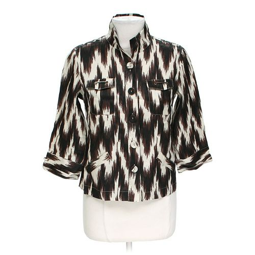 Chico's Stylish Cropped Button-up Shirt in size 4 at up to 95% Off - Swap.com