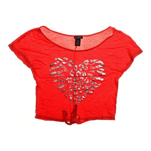 rue21 Stylish Cropped Shirt in size JR 7 at up to 95% Off - Swap.com