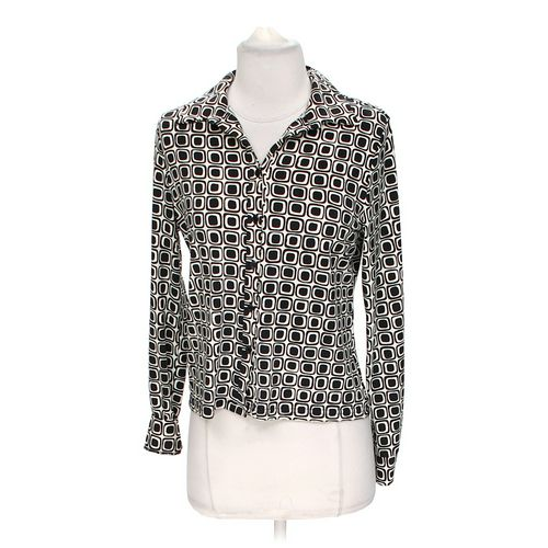Worthington Stylish Patterned Button-up Blouse in size S at up to 95% Off - Swap.com