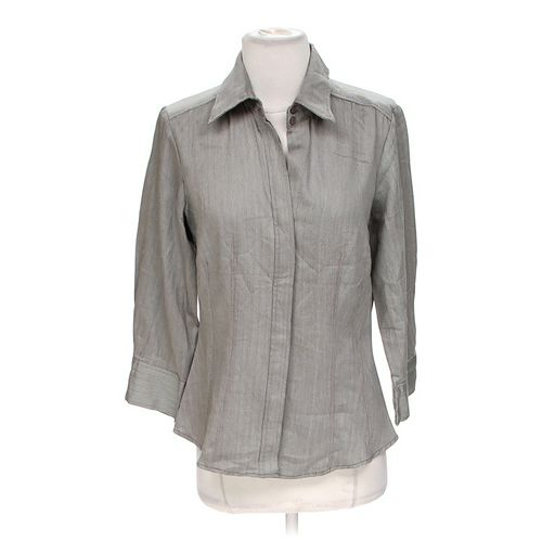 Larry Levine Stylish Patterned Button-up Shirt in size S at up to 95% Off - Swap.com