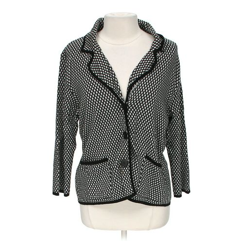 JM Collection Stylish Patterned Cardigan in size L at up to 95% Off - Swap.com