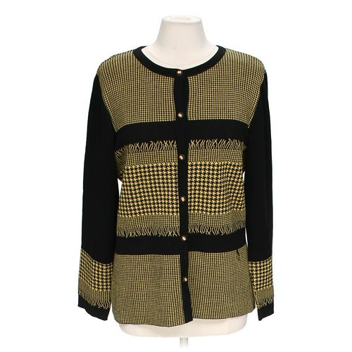 Cellini Stylish Patterned Cardigan in size L at up to 95% Off - Swap.com
