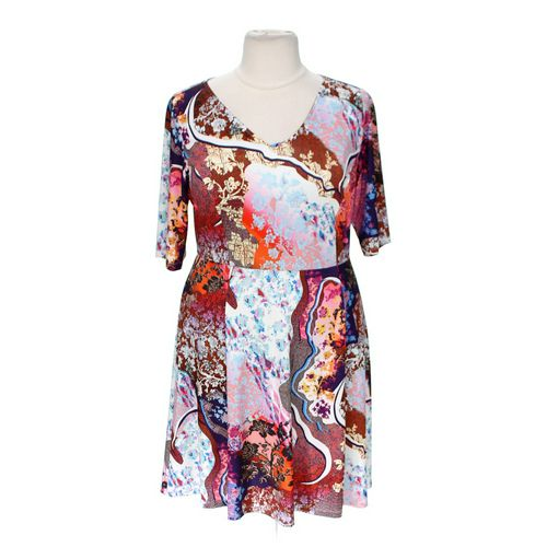 Triste Stylish Patterned Dress in size 2X at up to 95% Off - Swap.com