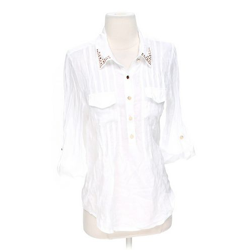 NEW DIRECTIONS Stylish Sheer Button-up Shirt in size S at up to 95% Off - Swap.com