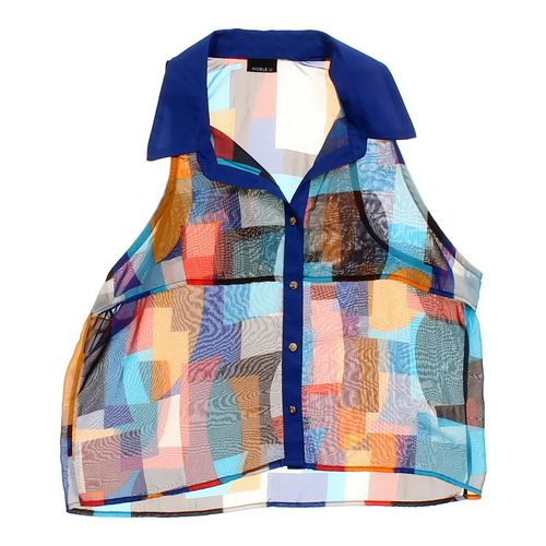 Noble U Stylish Sheer Button-up Vest in size JR 3 at up to 95% Off - Swap.com