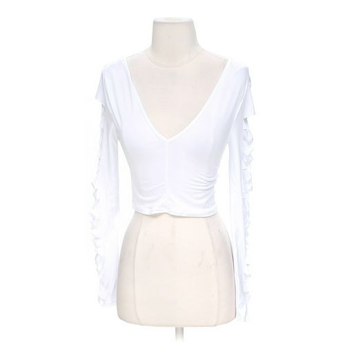 Body Central Stylish Sleeve Cropped Shirt in size S at up to 95% Off - Swap.com