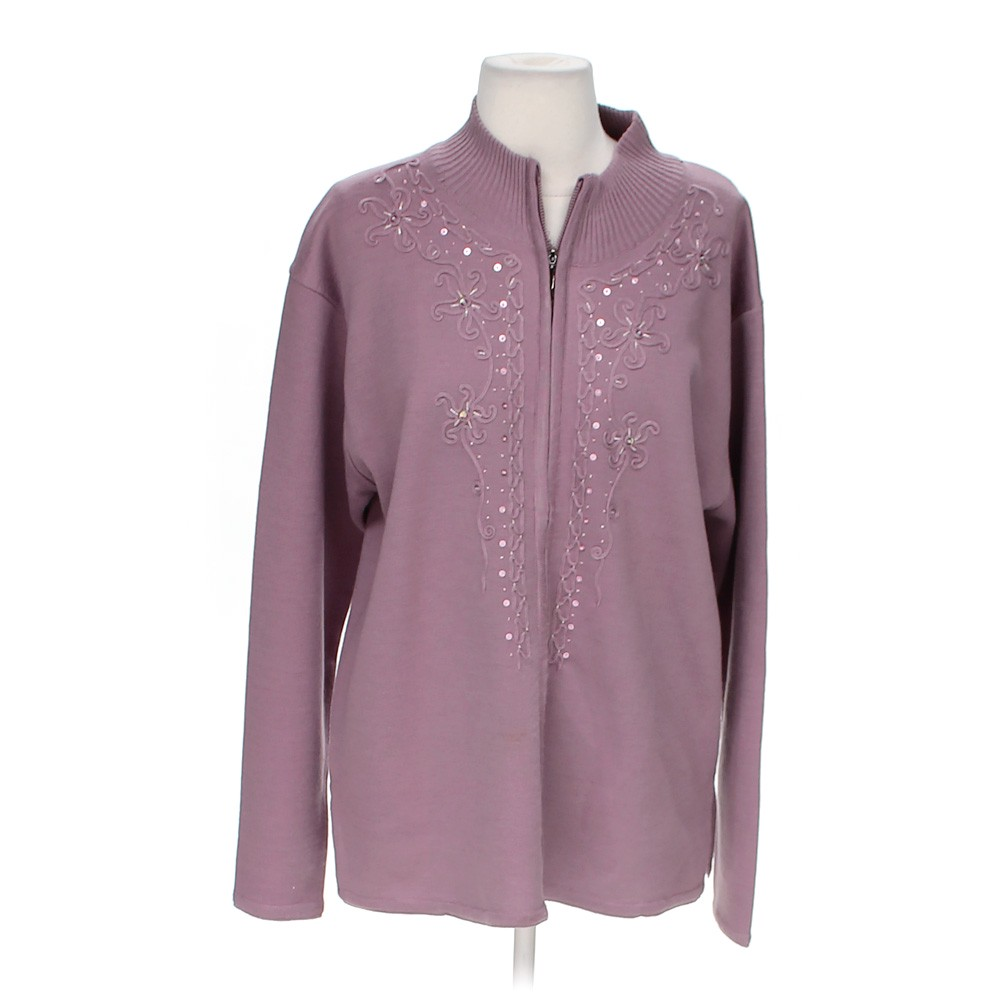 Purple Elegant Stylish Sweater in size M at up to 95% Off ... - photo#37