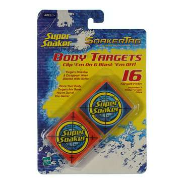 Super Soaker Soakertag Body Targets, 16 Targets with 2 Body Target Clips for Sale on Swap.com