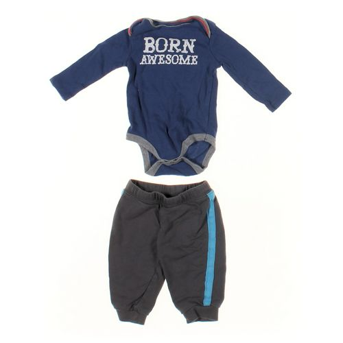 Carter's Sweatpants & Bodysuit Set in size 6 mo at up to 95% Off - Swap.com