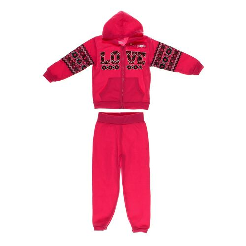 Girls Pink Sweatpants & Hoodie Set in size 4/4T at up to 95% Off - Swap.com