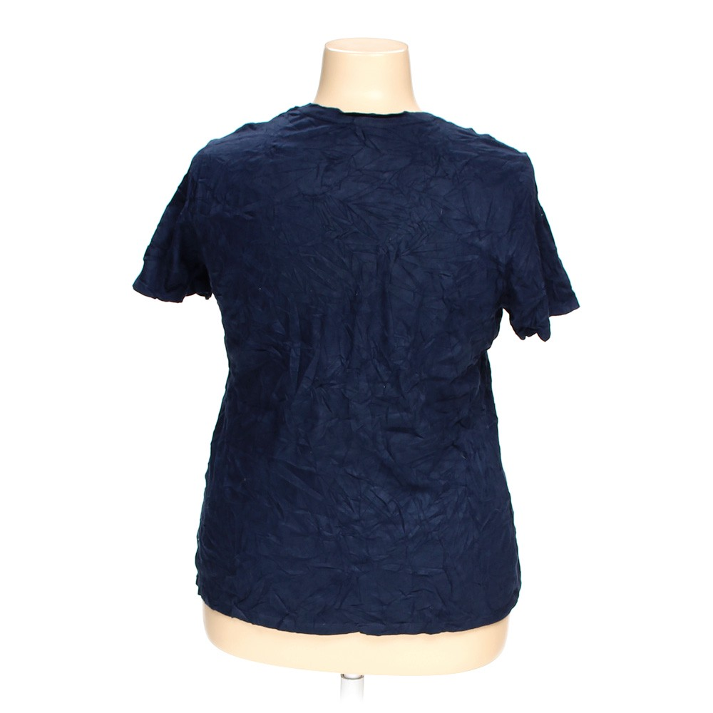 Blue Navy Faded Glory T Shirt In Size 18 At Up To 95 Off