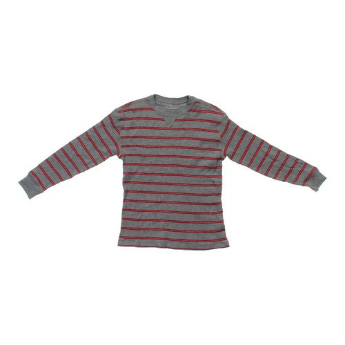 Faded Glory Thermal Striped Knit Shirt in size 10 at up to 95% Off - Swap.com