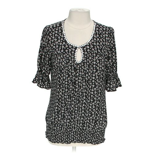 dressbarn Tiny Flower Blouse in size L at up to 95% Off - Swap.com