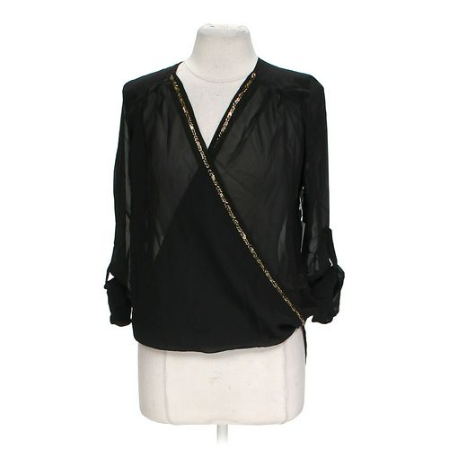 Truth Trendy Embellished Sheer Blouse in size L at up to 95% Off - Swap.com