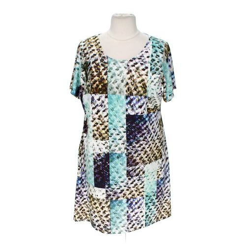 Triste Trendy Patterned Dress in size 2X at up to 95% Off - Swap.com