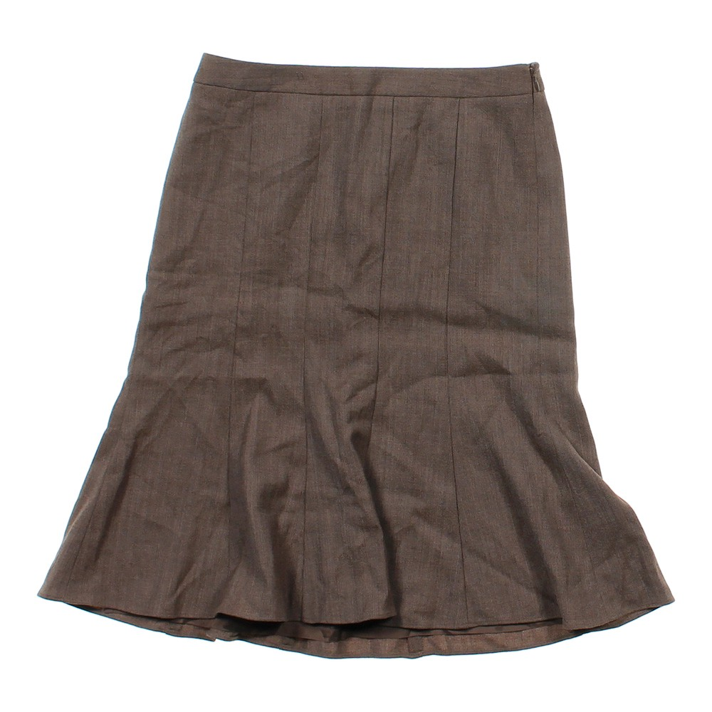 brown loft trendy pleated skirt in size 4 at up