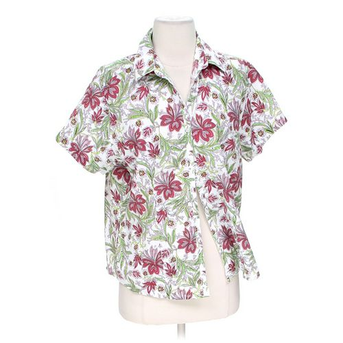 Haband Tropical Button-up Shirt in size M at up to 95% Off - Swap.com