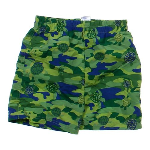 B.T. Kids Turtle Camo Swim Trunks in size 4/4T at up to 95% Off - Swap.com