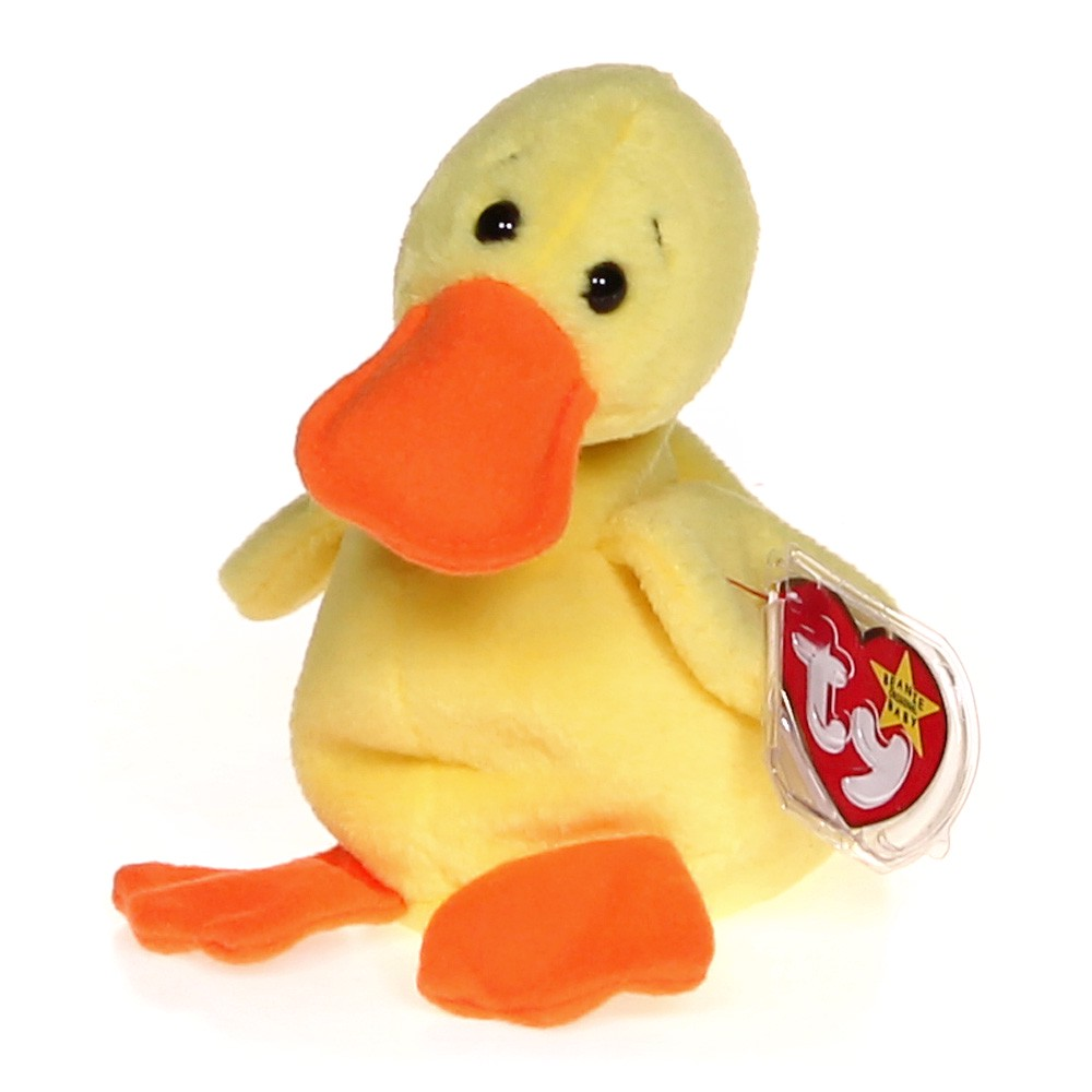 508ed3056e6 Ty Ty Beanie Babies - Quackers the Duck at up to 95% Off - Swap