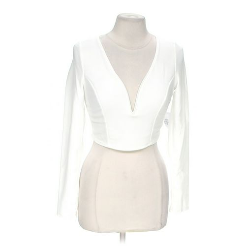 Body Central V-neck Cropped Shirt in size M at up to 95% Off - Swap.com