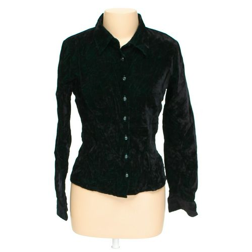 Agria Blues Velour Button-up Shirt in size L at up to 95% Off - Swap.com