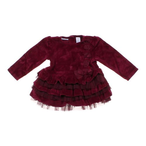 First Impressions Velour Ruffled Dress in size 6 mo at up to 95% Off - Swap.com