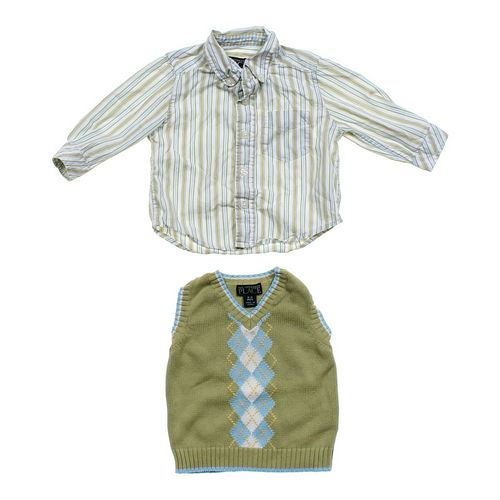 The Children's Place Vest & Button-up Shirt in size 6 mo at up to 95% Off - Swap.com
