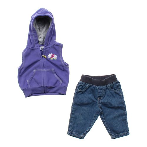 Carter's Vest & Jeans Set in size 6 mo at up to 95% Off - Swap.com