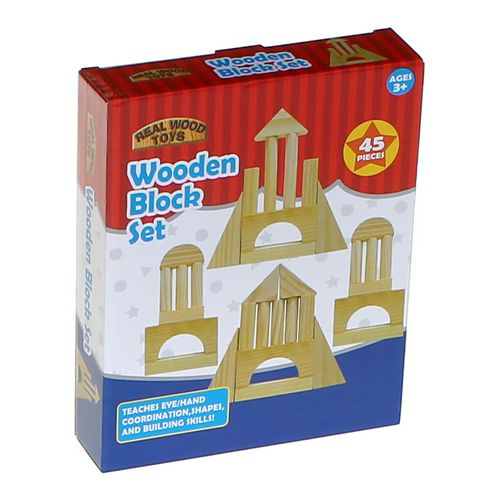 Real Wood Toys Wooden Block Set at up to 95% Off - Swap.com