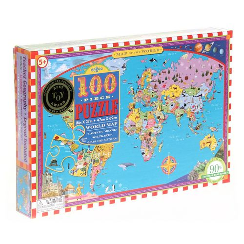 EeBoo World Map 100 Piece Puzzle Puzzle at up to 95% Off - Swap.com