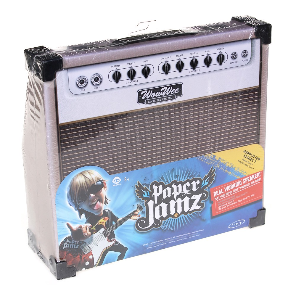 wowwee paper jamz We got the chance to play with wowwee's paper jamz guitar and amp (a drum set is also available), coming out in july these are cool toys for budding.