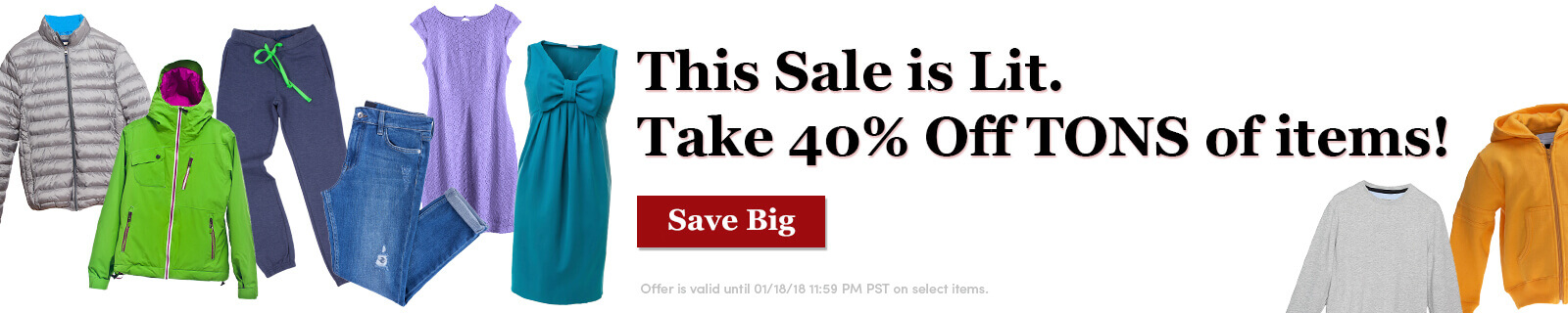 This Sale is Lit. Take 40% Off TONS of items! [Save big]