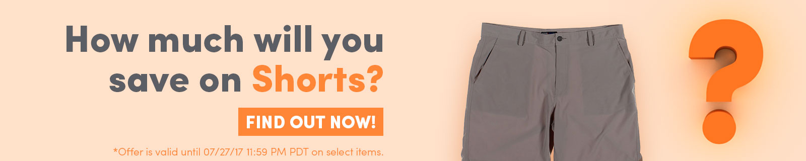 How Much Will You Save On Shorts? | Find Out Now