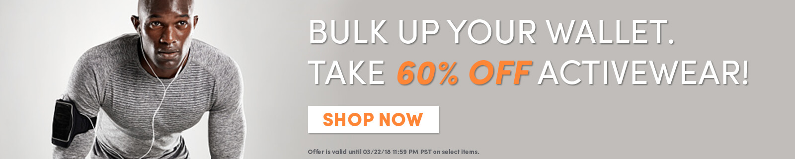 Take 60% off Activewear! Shop Now