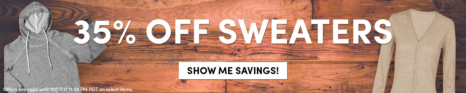 35% OFF Sweaters [Show Me Savings!]