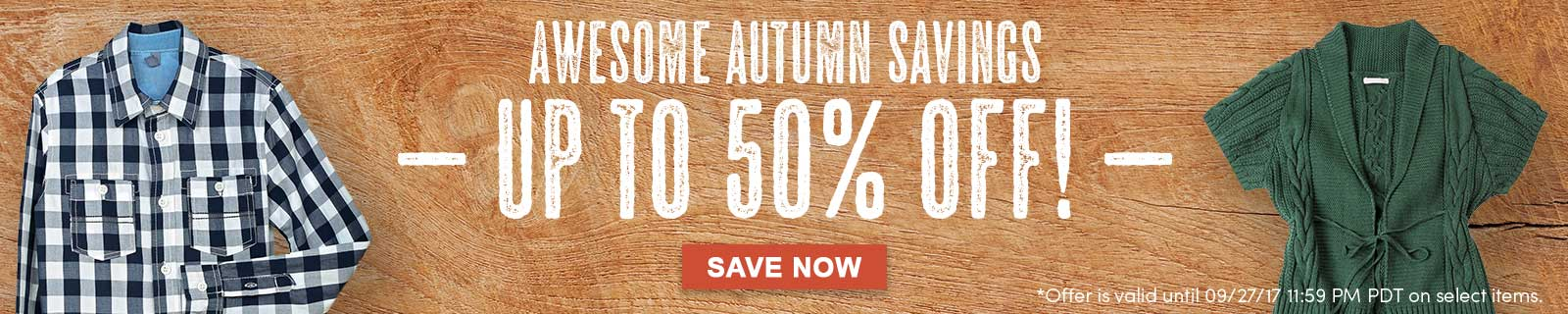 Awesome Autumn Savings Up To 50% Off! Save Now